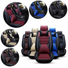 US Luxury 11pcs Car Seat Cover Cushion Front+Rear Full Set PU Leather Protector