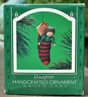 RARE 1986 NEW HALLMARK DAUGHTER STOCKING ORNAMENT SIGNED BY ARTIST ED SEALE NICE