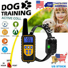 Waterproof IP67 Pet Dog Training Collar Electric Shock LCD Rechargeable Remote
