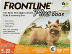 FRONTLINE Plus Flea and Tick Control for 5 22lbs Dogs 6 Doses