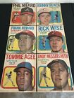 1970 TOPPS BASEBALL POSTER INSERTS (6) Wise Howard Bench Niekro Messersmith Agee