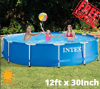 Swimming Pool Above Ground Metal Frame Set Filter Pump As A Gift Intex 12 x 30
