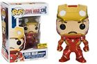 Pop! Marvel Captain America Civil War Iron Man Unmasked Hot Topic #136 Funko JC