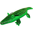 Inflatable Green Crocodile 150cm Blow Up Swimming Pool Fun Toy Beach Accessory
