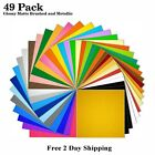 49 Pack 12x12 Self Adhesive Vinyl Sheets Permanent for Cricut Silhouette Cameo