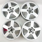 Set of 4 15x65 Aftermarket Silver Alloy Rim Wheels w Caps for Volvo S60 S80 V70