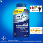 New Mens One A Day Multivitamin 300 Tablets Adult Multi Vitamin