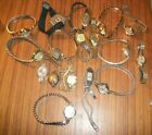 VTG WOMENS BRAND NAME LOT OF (17) WRISTWATCHES-GOLDPLATE GF-SOME RUN
