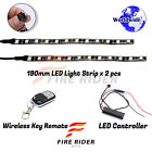 2 Pcs 190mm Motors Exterior Wheel RGB LED Lighting Strips For Benelli TNT899