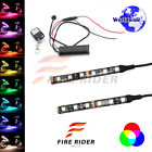 2Pcs 95mm Motors Exterior Wheel RGB LED Lighting Strips For Moto Guzzi Eldorado