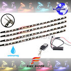 4 Pcs 290mm Motors Exterior Wheel RGB LED Lighting Strips For Moto Guzzi Corsa