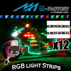 RGB Light Strips Motorcycle Fairing Body Frame 12Pcs Fit Honda