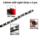 4Pcs RGB Light Strips Fairing Body Frame 145mm For Husaberg FE450
