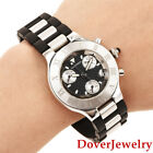 Cartier Must 21 Chronoscaph Stainless Steel Rubber Mens 2424 Watch  $4,950.00 NR