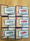 Lot of 6 Car Themed Geared Up Garage Birthday cards made w Stampin Up supplies