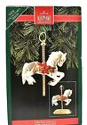 RARE 1992 NEW HALLMARK TOBIN FRALEY CAROUSEL w DISPLAY STAND CHRISTMAS ORNAMENT