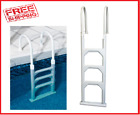 Swimming Pool Step Ladder Above Ground Deck Flanges Heavy Duty Stairs Rail In