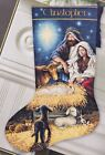 Dimension Holy Night Nativity Manger Christmas Cross Stitch Stocking Kit 08838