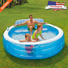 Large Inflatable Swim Center Lounge Family Pool Kids Water Play Fun Backyard