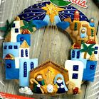 Bucilla Town of Bethlehem Nativity Manger Christmas Wreath Felt Craft Kit 86734