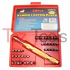 39 pc Steel Number  Letter Punch Set Automatic 1 8 Stamp Punch Tool Alphabet