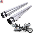 Motorcycle 4 Slip On Mufflers Exhaust Pipe For Harley Touring Bagger 1995 2016