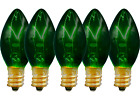 C 7 GREEN CLEAR TWINKLE LIGHT BULBS BRAND NEW 1 BOX OF 25 C7 E12 CHRISTMAS