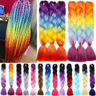 24 Real Thick Rainbow Braiding hair Straight Kanekalon Jumbo Hair Weaving Hair