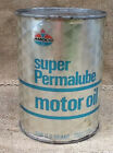 Vintage Amoco Super Permalube Quart Motor Oil Can Unopened Full Can Made in USA