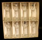 * Set of 8 * Vintage Libbey Glass Silver Leaf Cordials Original Box