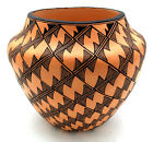 Native American Acoma Olla with Fine Line Pattern by Sharon Stevens
