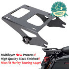 Detachable Two Up Tour Pak Pack Trunk Mount Rack For Harley Touring 2014 2019 18