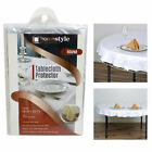 Table Cover Crystal Clear Vinyl Heavy Duty Tablecloth Spill Protector 70 Round