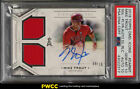 2018 Topps Diamond Icons Single Dual Mike Trout AUTO PATCH 10 PSA 10 GEM (PWCC)