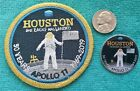 APOLLO 11 HOUSTON The EAGLE Has LANDED 50 YEARS PATCH  PIN NEW  RARE
