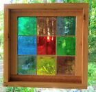 Stained Glass Panels Mid 20th Century Mouth Blown unframed Angelfish
