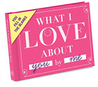 Knock Knock What I Love about You Fill in the Love Book Fill in the Blank Gift