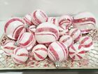 Christmas Holiday Red White Candy Cane Peppermint Ornaments Decor Set of 19