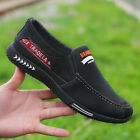 Mens Casual Canvas Shoes Loafers Breathable Flats Driving Boat Slip On Comfy