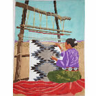 HAND PAINTED NEEDLEPONT CANVAS NATIVE AMERICAN WEAVING BM