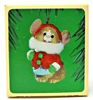 RARE 1984 NEW HALLMARK SMILING SANTA MOUSE WITH WINTER COAT ORNAMENT SCARCE CUTE