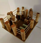 Hand Made Crafted Jesus Nativity Scene Carved Wood Vintage Adorable 8 x 8 x 5