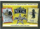 2019 LEAF METAL ALL-AMERICAN BOWL FOOTBALL HOBBY BOX 8 AUTO'S.ONLY 117CASES MADE