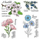 Flowers Print Transparent Clear Silicone Stamp Seal scrapbooking photo album