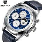 BENYAR Top Luxury Brand Moon Phase Watches Men Waterproof Chronograph Military S