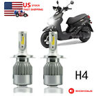 H4 LED Headlight Bulb Kit 6000K Hi/Low Beam For 2009-2015 Yamaha YW125 Zuma 125