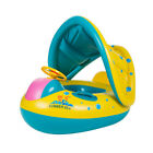 Swimming Pool Inflatable Baby Float Boat Seat Water Toy with Sun Canopy Sunshade
