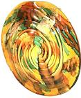 New Oval Bowl Art Glass Italian Made In Italy 13