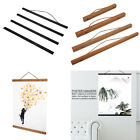 Magnetic Wooden Photo Picture Frame Wall Poster Scroll Prints Artwork Hanger Lot