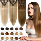 CLEARANCE Clip in 100% Real Human Hair Extensions Full Head Any Color Highlight